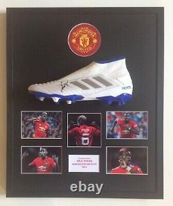 Paul Pogba Hand Signed Mounted Manchester United FC Football Boot