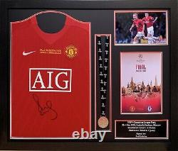 Paul Scholes Framed Signed Manchester United Champions League Football Shirt