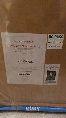 Paul Scholes Manchester United Autograph/signed Shirt/jersey. Framed