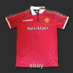 Paul Scholes Manchester United Signed 1999 Shirt