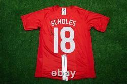 Paul Scholes Signed Manchester United F. C. Shirt AFTAL COA