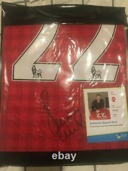 Paul scholes signed manchester united home shirt excellent condition