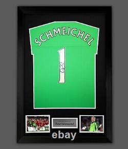 Peter Schmeichel Hand Signed Manchester United Football Shirt In A Frame