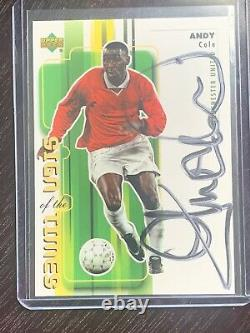 RARE 2000 MLS Sign of the Times ANDY COLE Autograph AUTO MANCHESTER UNITED
