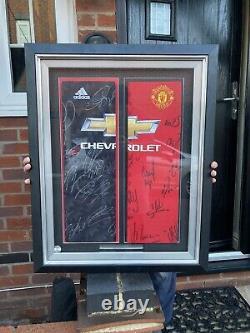 RARE X2 Manchester United Signed Shirt