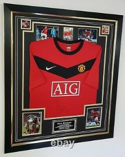 Rare Paul Scholes of Manchester United Signed Shirt Autographed Display