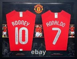 Ronaldo And Rooney Signed Manchester United Shirt AMAZING