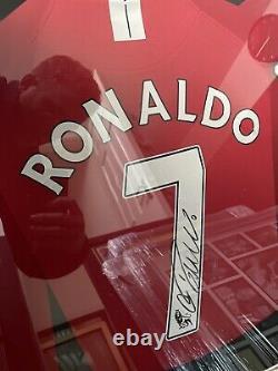 Ronaldo Best And Cantona Signed Manchester United shirts