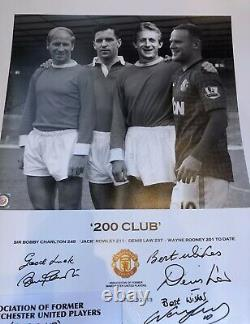 Rooney Charlton and Denis Law signed Limited edition Manchester United