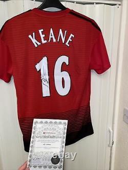 Roy Keane Signed Manchester United Football Shirt