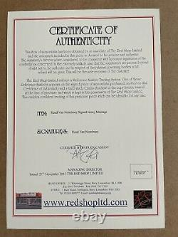 Ruud Van Nistelrooy Manchester United Framed Signed Shirt Golden Boot With COA