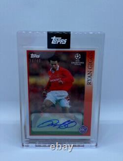 Ryan Giggs Lost Rookie Topps Auto /49 Signed Cards Manchester United