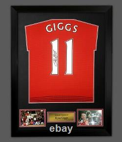 Ryan Giggs Signed Manchester United Football Shirt In A Framed Presentation