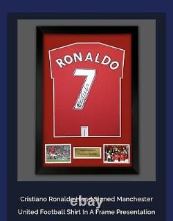 SIGNED And Framed CRISTIANO RONALDO MANCHESTER UNITED Shirt Amazing Value £299