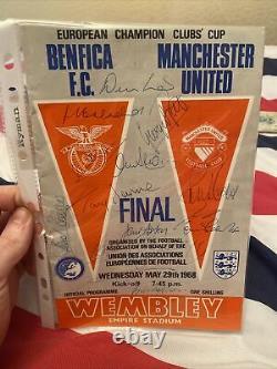 SIGNED Team 1968 European Cup Final- Benfica v Manchester United programme