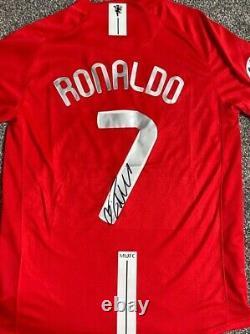 Signed Cristiano Ronaldo Manchester United Shirt With Coa