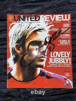 Signed David Beckham Manchester United Programme COA