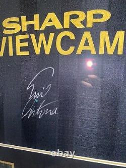 Signed Eric Cantona Manchester United Framed Kung Fu Away Shirt France Leeds