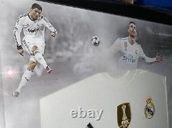 Signed Framed Cristiano Ronaldo Shirt Real Madrid Portugal Manchester United