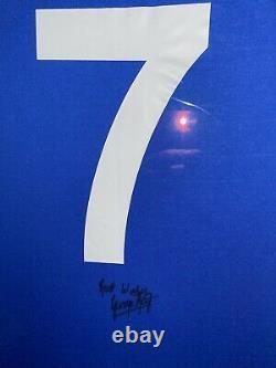 Signed Framed George Best Manchester United Home Shirt Fulham Northern Ireland