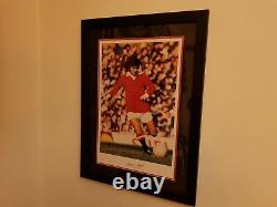 Signed George Best Manchester United Framed Wall Picture