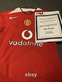 Signed Manchester United Shirt Roy Keane