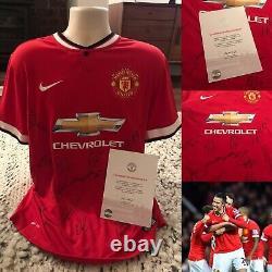 Signed Manchester United shirt 2014/2015 Rooney, van Persie, Mata etc