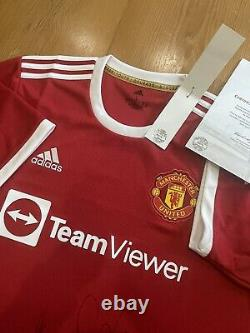 Signed Manchester United shirt 21/22 Season #Maguire #Shaw #Sancho #Varane #Shaw