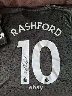 Signed Marcus Rashford Manchester United Away Shirt