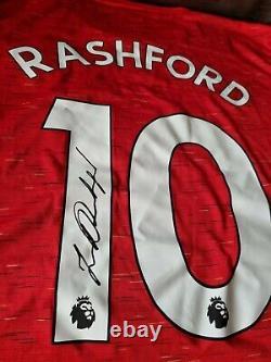 Signed Marcus Rashford Manchester United Home Shirt