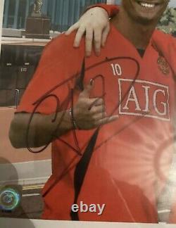 Signed Ronaldo Scholes Robson Manchester United Masterclass Framed Beckett