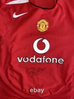 Signed Ryan Giggs Retro Manchester United Home Shirt