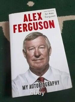Sir Alex Ferguson Hand Signed Book, Manchester United, Rare Hard Back, COA