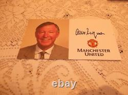 Sir Alex Ferguson Signed Manchester United Official Club Autograph Card