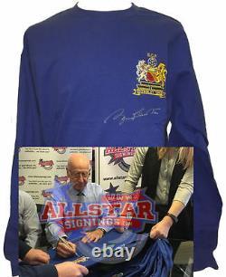 Sir Bobby Charlton Signed Manchester United 68 Ecf Shirt Box Set Proof Football