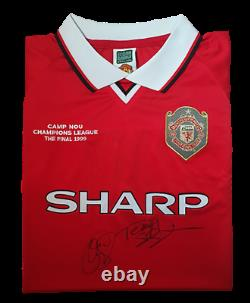 Solskjaer & Sheringham Manchester United'99 Champions League Final Signed Shirt