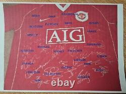 Squad signed 2005 Manchester United Home shirt