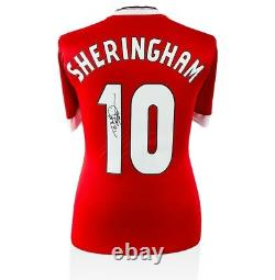 Teddy Sheringham Signed Manchester United Shirt Number 10 Autograph Jersey