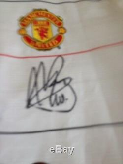 Van Nistelroy Multi signed and game worn Manchester United football shirt a off