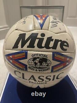 Vintage Manchester United 1996-97 Squad Signed Original Mitre Football VGC RARE
