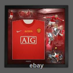 WAYNE ROONEY SIGNED AND DELUXE FRAMED MANCHESTER UNITED SHIRT With Coa £199