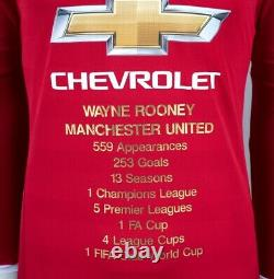 Wayne Rooney Front Signed Manchester United Shirt Career Special Edition