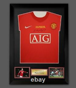 Wayne Rooney Front Signed Manchester United Shirt Football In A Frame