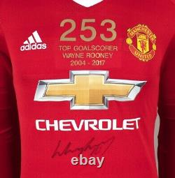 Wayne Rooney Front Signed Manchester United Shirt Special Edition 253, Top Goa