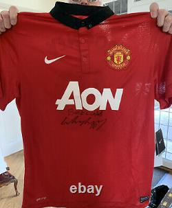 Wayne Rooney Manchester United Shirt Signed best Wishes COA private Signing £125