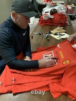 Wayne Rooney Manchester United Signed Shirt Framed Final Moscow 2008 COA Proof