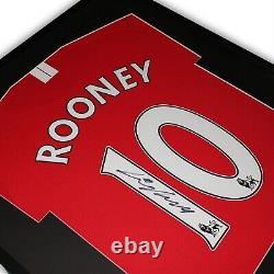 Wayne Rooney Signed Manchester United Framed Shirt 2007/08 Red Home England