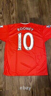 Wayne Rooney Signed Manchester United NIKE On Field Jersey Beckett COA