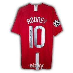 Wayne Rooney Signed Manchester United Shirt Moscow 2007/08 Jersey Kit Home COA