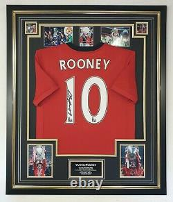Wayne Rooney of Manchester United Signed Shirt Autographed Jersey Display